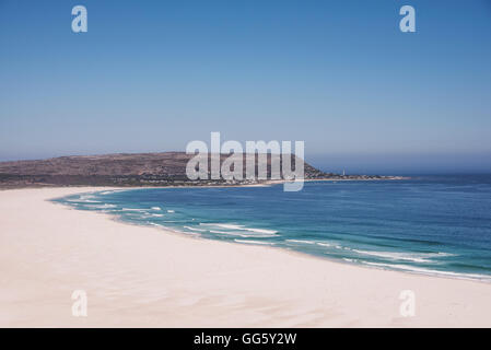 View of the sunny beach - Stock Image
