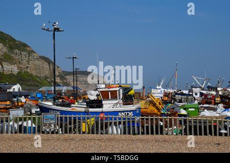 Hastings, East Sussex, UK - Stock Image