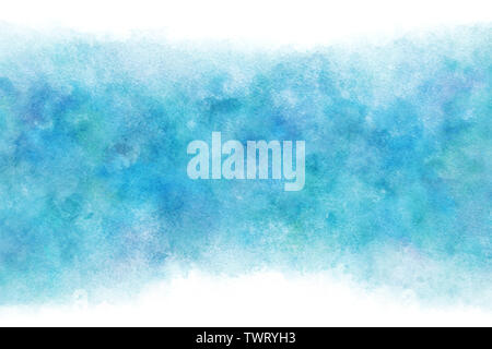 Pastel color blue water wave abstract or natural watercolor paint background - Stock Image