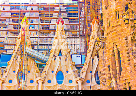 La Sagra Familia - the impressive cathedral, Spain, Barcelona - Stock Image