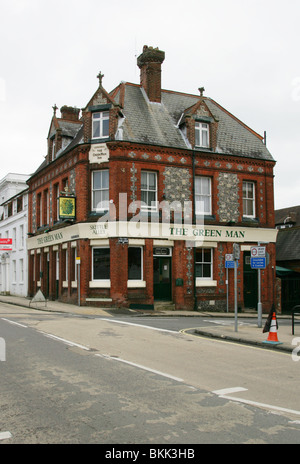 The Green Man Pub, St Swithun Street, Southgate Street, Winchester, Hampshire, UK - Stock Image