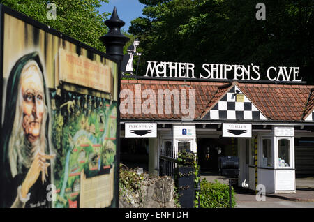 Mother Shipton's Cave Entrance - Stock Image