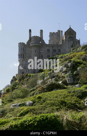 St Michael's Mount, Cornwall, UK. View from the Sea. - Stock Image