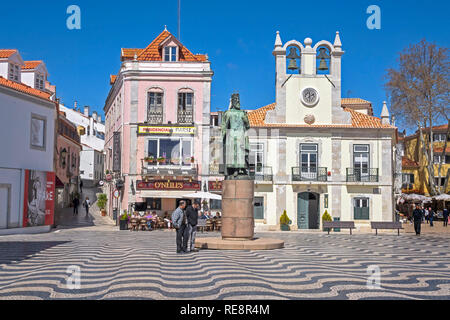 Central Square of Cascais Portugal - Stock Image