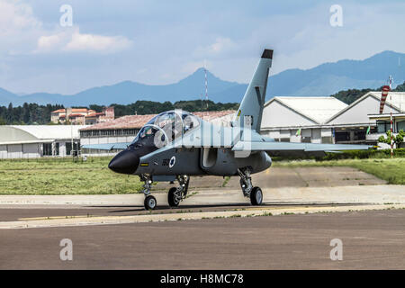 Israeli Air Force Alenia Aermacchi M-346 Master (IAF Lavi) a military twin-engine transonic trainer aircraft. Photographed - Stock Image