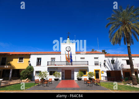 The classic spanish Policia Local Station in the created village of Tous in Valencia Community Spain - Stock Image