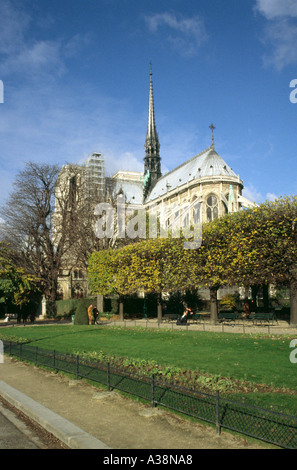 Notre Dame Cathedral, Paris, France - Stock Image