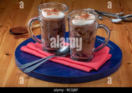 Chocolate keto mug cake - Stock Image