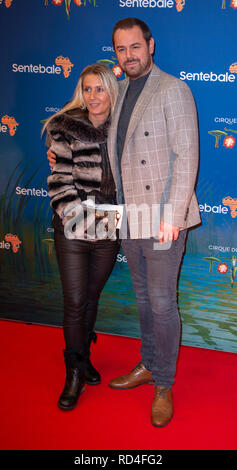 London, United Kingdom. 16 January 2019. Danny Dyer arrives for the red carpet premiere of Cirque Du Soleil's 'Totem' held at The Royal Albert Hall. Credit: Peter Manning/Alamy Live News - Stock Image