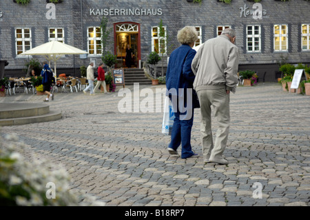kaiserringhaus goslar harz mountains germany deutschland travel tourism architecture building pensioner couple - Stock Image