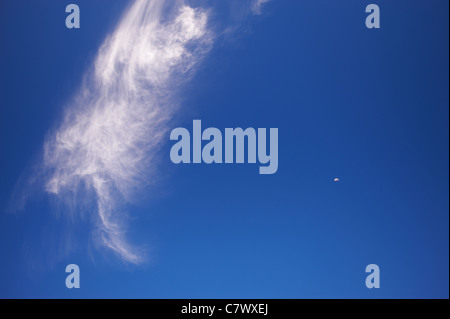 Boot shaped cloud - Stock Image