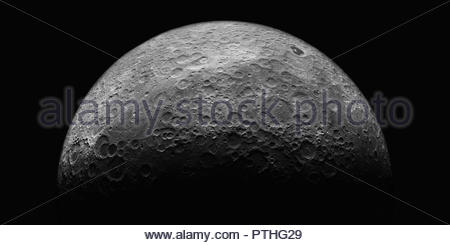 The moon from space - Stock Image