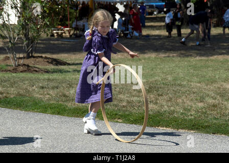 Small Girlpl aying - Stock Image