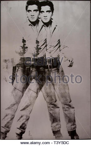 Double Elvis  Andy Warhol 1928 American United States of America USA - Stock Image