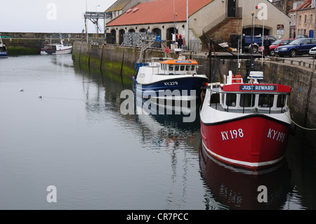 The harbour in the Fife fishing port of Pittenweem - Stock Image