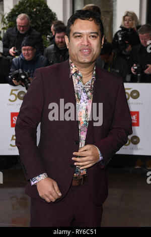 London, UK. 12th Mar, 2019. LONDON, UK. March 12, 2019: Paul Sinah arriving for the TRIC Awards 2019 at the Grosvenor House Hotel, London. Picture: Steve Vas/Featureflash Credit: Paul Smith/Alamy Live News - Stock Image