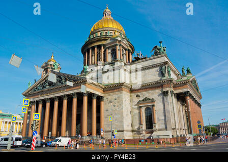 St Isaac's Cathedral, Saint Petersburg, Russia - Stock Image