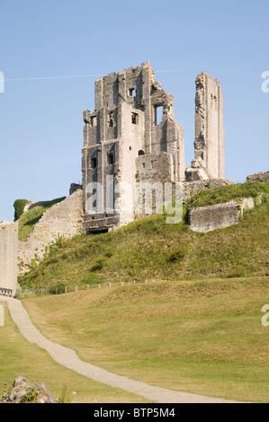 Corfe Castle, Dorset, UK. - Stock Image