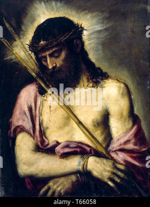 Titian, Ecce Homo, Jesus Christ, painting, c. 1558 - Stock Image