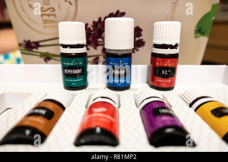 Young Living Essential Oils starter kit - Stock Image