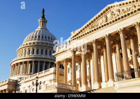 East side view of the United States Capitol building. - Stock Image