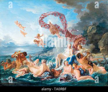 François Boucher, The Triumph of Venus, painting, 1740 - Stock Image