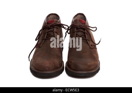 A pair of brown Chukka Boot shoes - Stock Image