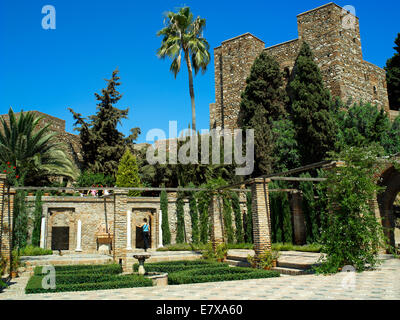 Gardens adjoining Malaga's Alcazaba - Stock Image