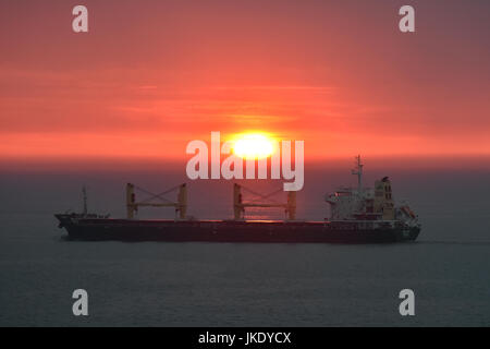 Velvet northbound in Great Belt at sunrise - Stock Image