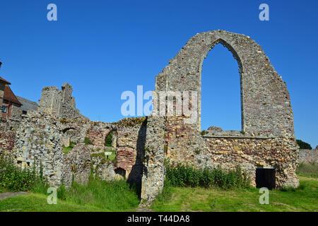 Leiston Abbey, Theberton, Leiston, Suffolk, UK - Stock Image