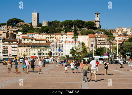 Cannes, Old Quarter, Castle, French Riviera - Stock Image