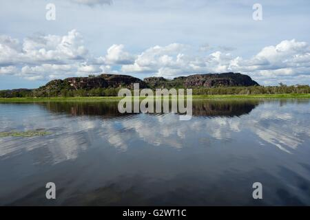 View of the wetlands and floodplains at Mount Borradaile, near Cooper Creek, West Arnhem Land, Northern Territory, - Stock Image