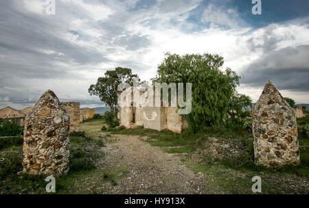 Mirenal de Pozos, a Magic Pueblo from Mexico virtual ghost town with unique beauty. Once rich for its mining industry - Stock Image