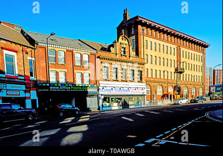 Mayfair court Appartments and shops, West Bar, Sheffield, England - Stock Image