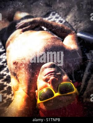 Sun selfie - Stock Image