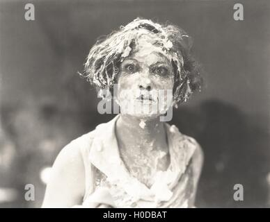Pie in the face - Stock Image