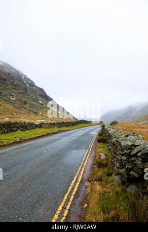 The A592 passing through the Kirkstone Pass, Lake District, Cumbria, England - Stock Image