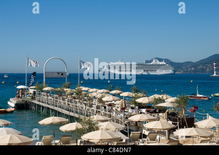 Cannes, typical ponton, French Riviera - Stock Image