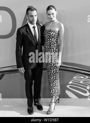 New York, NY - June 03, 2019: Alexandre Birman and Elizabeth Grace attend 2019 CFDA Fashion Awards at Brooklyn Museum - Stock Image