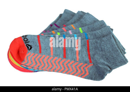 Ladies sport socks isolated on a white background - Stock Image