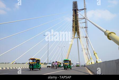 Signature Bridge,  New Delhi - Stock Image