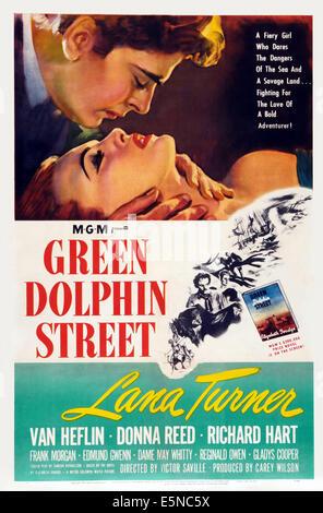 GREEN DOLPHIN STREET, US poster art, Richard Hart, Lana Turner, Van Heflin, 1947 - Stock Image