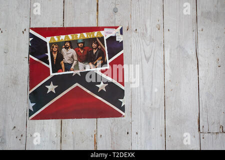 1982 country album Mountain Music by the band Alabama - Stock Image