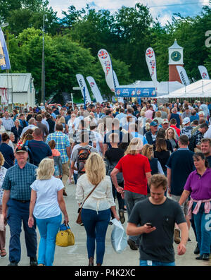 The Lincolnshire Show - Lincoln, Lincolnshire, England UK |  Crowds flock to a major country show in June on one of the hottest summer days of the year - Stock Image