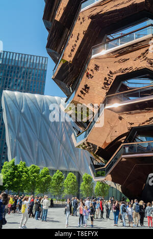 The vessel, in the center of the Hudson Yard, Chelsea, New York City, NY / USA - Stock Image
