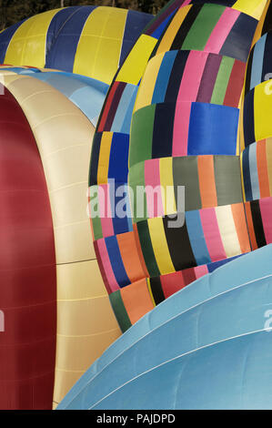 a Cameron O-120 canopy being inflated with 3 other canopies - Stock Image