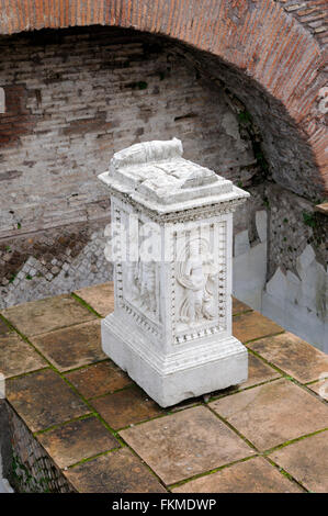 Lacus Juturnae, the spring of Juturna sacred fountain, Roman Forum, Rome, Italy - Stock Image