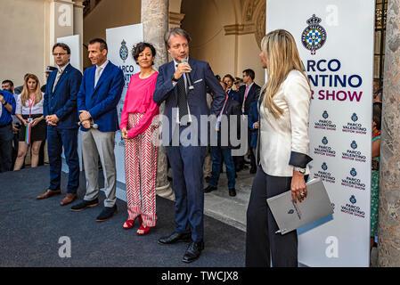 Piedmont Turin - Turin auto show 2019  - Valentino park - Valentino castle -  Assessore Alberto Sacco - Stock Image
