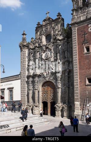 La Santísima Church aka Templo De La Santísima Trinidad Church in Mexico City - Stock Image