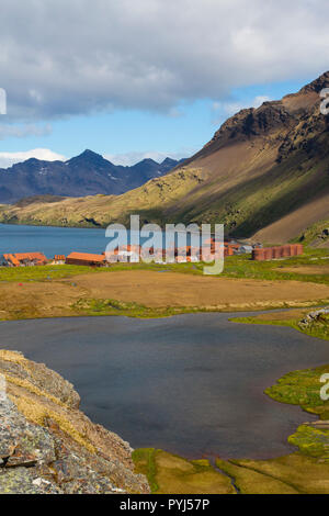 Stromness whaling station, South Georgia, Antarctica. - Stock Image